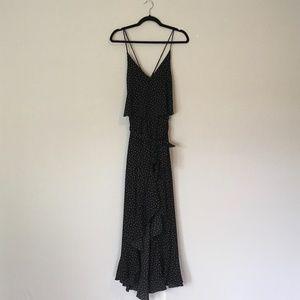 Vici High Low Maxi Dress Flounce Ruffle Print
